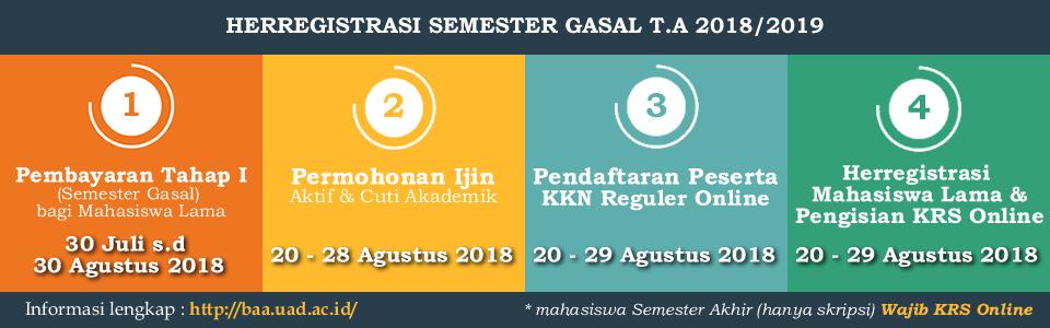 Herregistrasi Semester Gasal T.A. 2018/2019